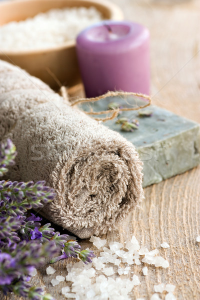 Spa with lavender and towel Stock photo © mythja