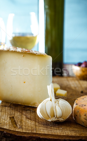 Cheese on wood Stock photo © mythja