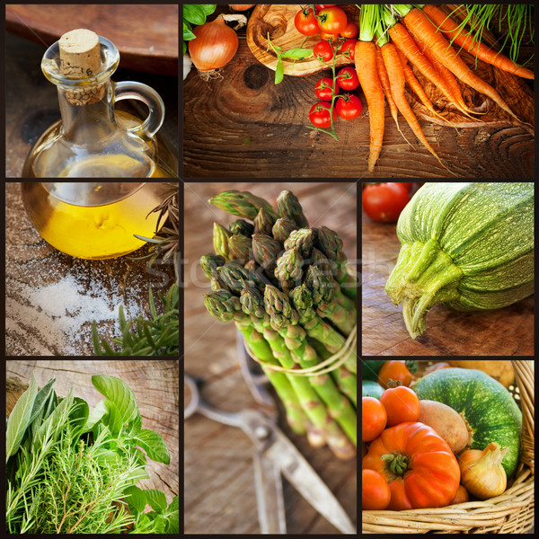 Fresh vegetables collage Сток-фото © mythja