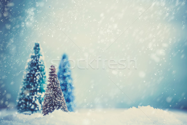 Christmas background bokeh Stock photo © mythja