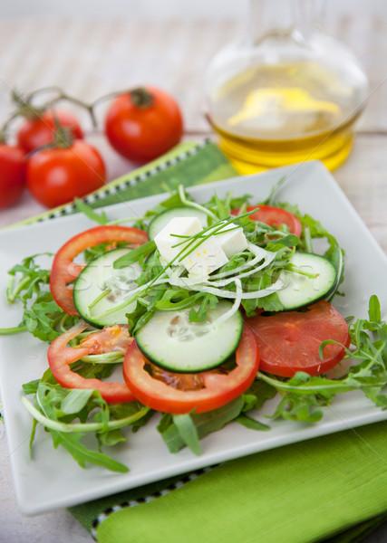 Saudável vegetal salada alface foguete Foto stock © mythja
