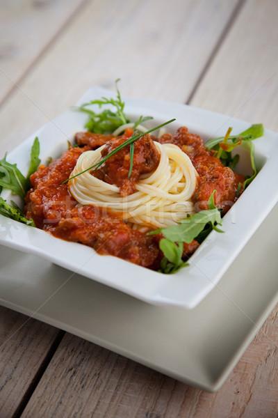 Pasta with sauce Stock photo © mythja