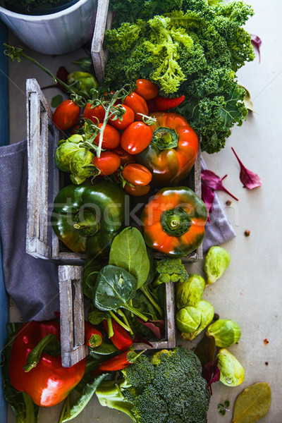 Stock photo: Fresh vegetables flatlay
