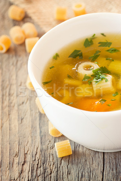 Vegetable soup with pasta Stock photo © mythja