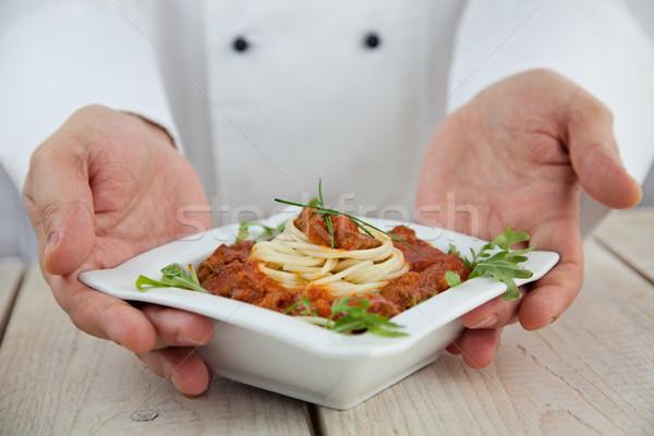 Male chef in restaurant Stock photo © mythja