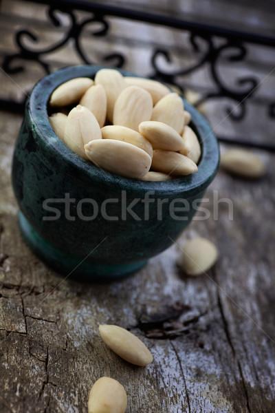 Hámozott mandulák egészséges diók fából készült természet Stock fotó © mythja