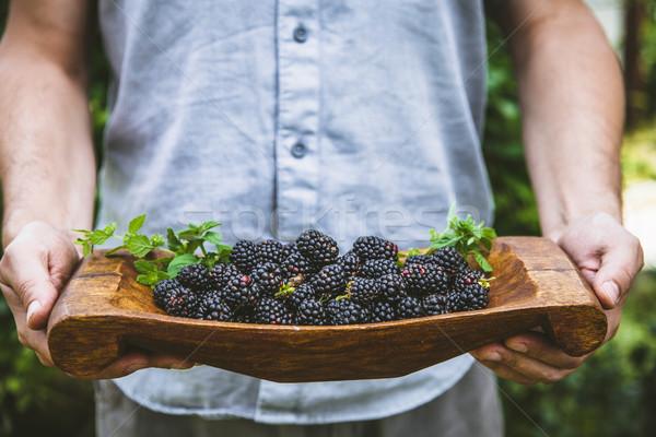 Jeans fresco orgânico fruto agricultores Foto stock © mythja