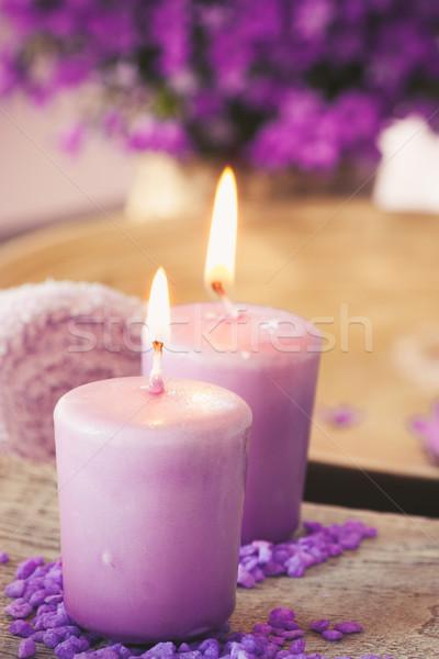 Purple spa setting Stock photo © mythja
