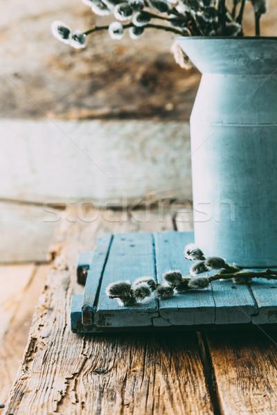 春の花 木材 素朴な 春 食品 幸せ ストックフォト © mythja