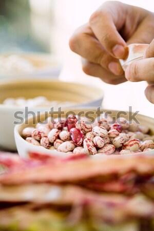 Stockfoto: Groenten · tabel · vers · eigengemaakt · voedsel · gezonde · voeding
