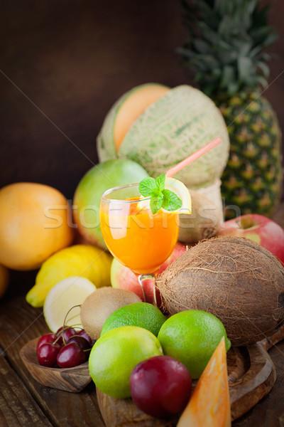 Gyümölcs választék organikus fa trópusi egzotikus Stock fotó © mythja