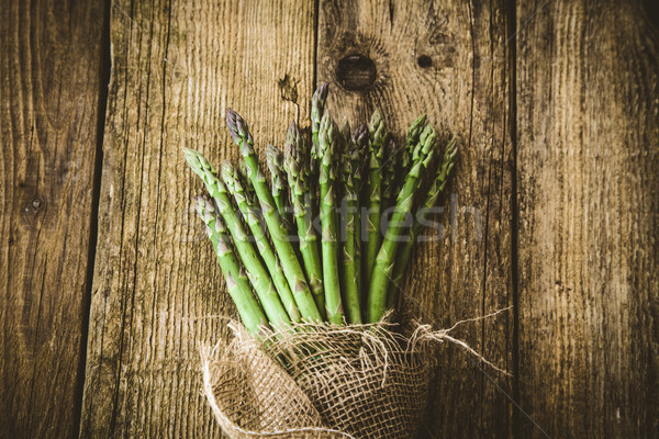 Vers asperges organisch groenten hout vers voedsel Stockfoto © mythja