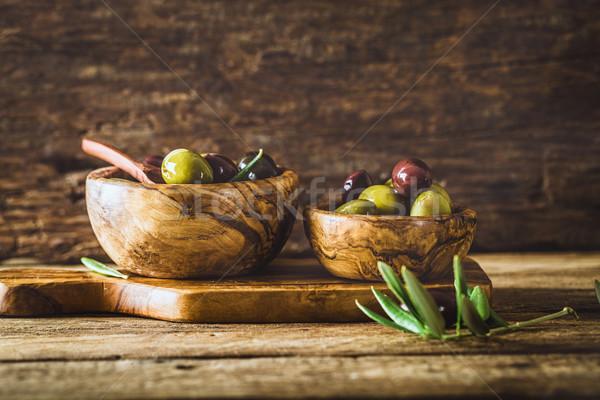 Olives on branch Stock photo © mythja