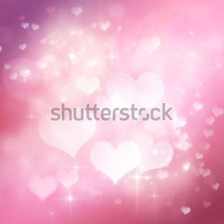 Valentines day festive bokeh background Stock photo © mythja