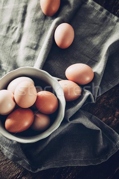 卵 木材 オーガニック 食品 卵 パン ストックフォト © mythja