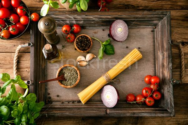 Pasta with olive oil  Stock photo © mythja