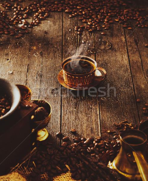 Stock photo: Coffee in oriental setting