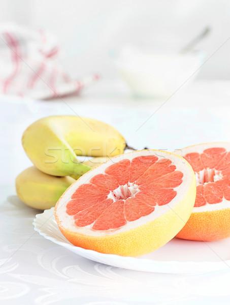 新鮮果物 グレープフルーツ バナナ 朝食 食品 夏 ストックフォト © mythja