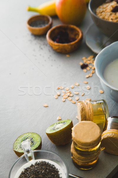 Healthy breakfast variety Stock photo © mythja