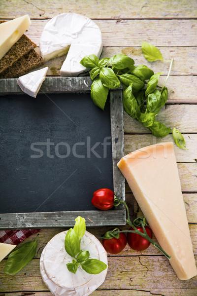 Italian cooking on wood Stock photo © mythja