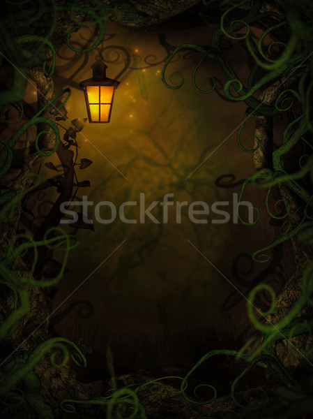 Halloween background with spooky vines Stock photo © mythja