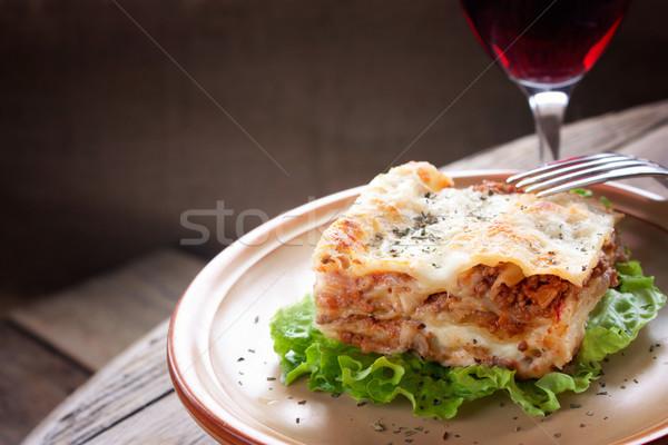 Fresche fatto in casa lasagna cucina italiana Foto d'archivio © mythja