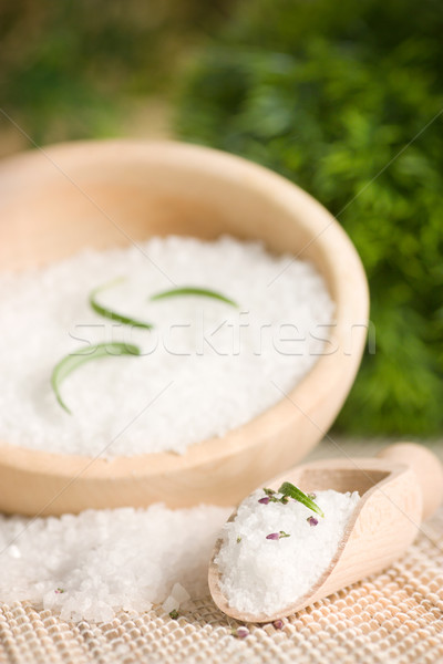 Spa setting with bath salt Stock photo © mythja