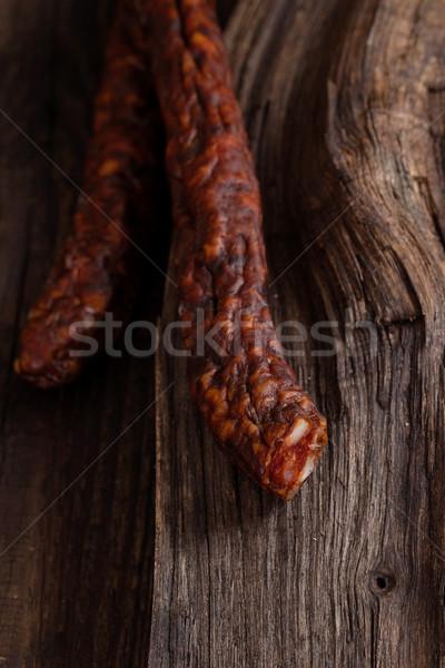 Smoked sausage Stock photo © mythja