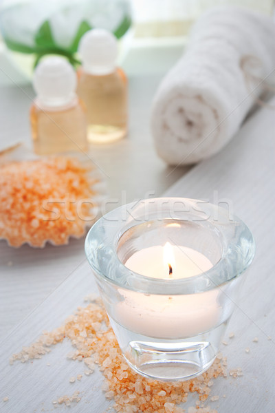 Spa beauty producten shampoo hout lichaam Stockfoto © mythja