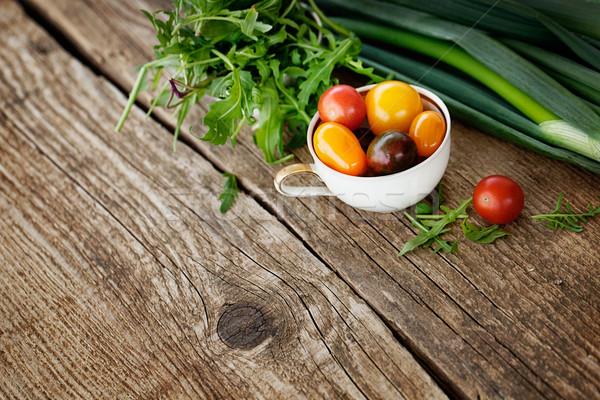 Stock fotó: Friss · hozzávalók · főzés · rusztikus · egészséges · étkezés · organikus