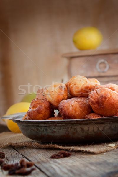 Bowl of Deep fried fritters  Stock photo © mythja