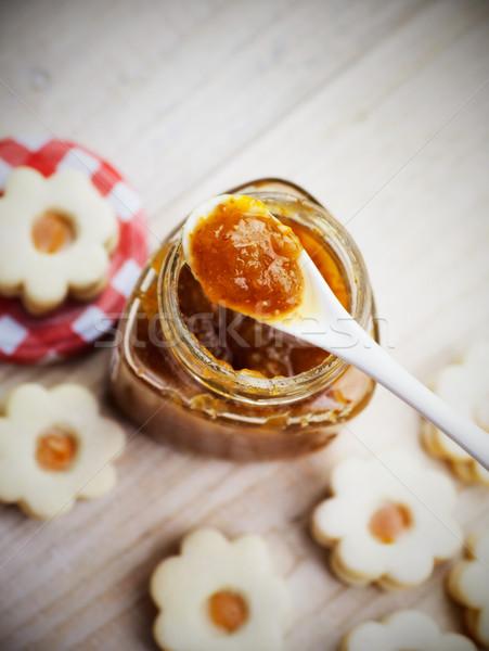 ストックフォト: バター · クッキー · クリスマス · ジャム · 砂糖 · 星