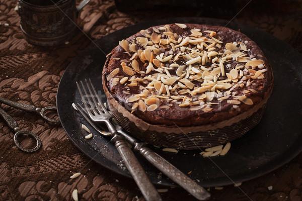 Chocolate pie Stock photo © mythja