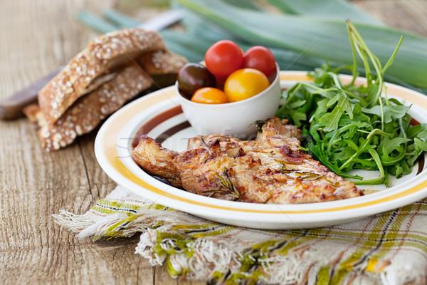 Grilled chicken Stock photo © mythja