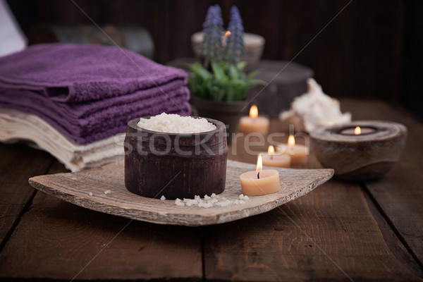 Stock photo: Spa setting