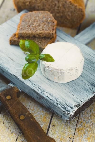 Stockfoto: Italiaans · koken · hout · vers · kaas · brood