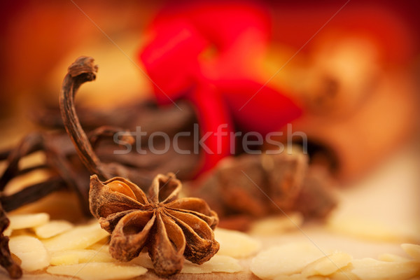 Estrela anis descascado canela de volta Foto stock © mythja