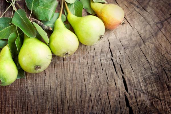 Freshly harvested pears Stock photo © mythja