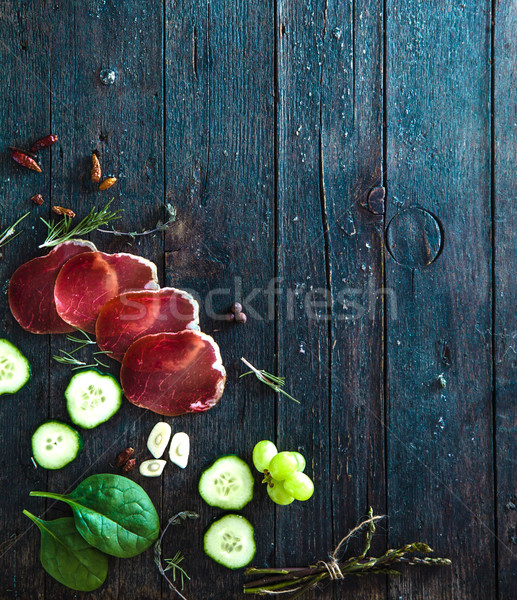 Italian ham Stock photo © mythja