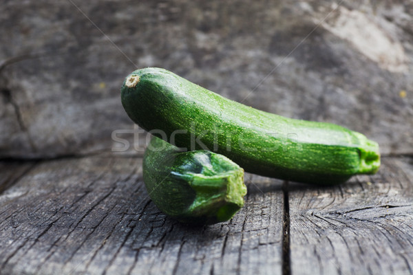 Zucchini on wood Stock photo © mythja