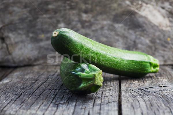 ズッキーニ 木材 野菜 新鮮な 緑 ヴィンテージ ストックフォト © mythja
