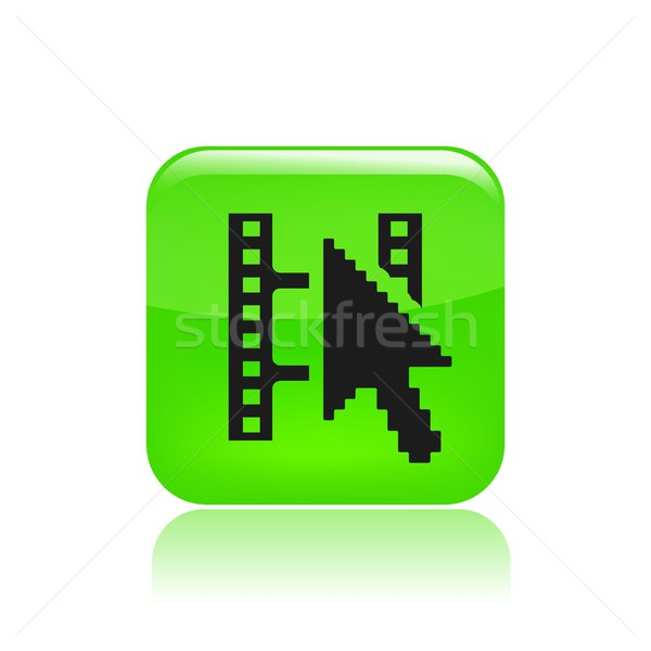 Film streaming icône mixeur www lire Photo stock © Myvector