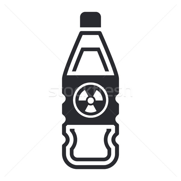 Isolated nuclear waste in bottle  Stock photo © Myvector
