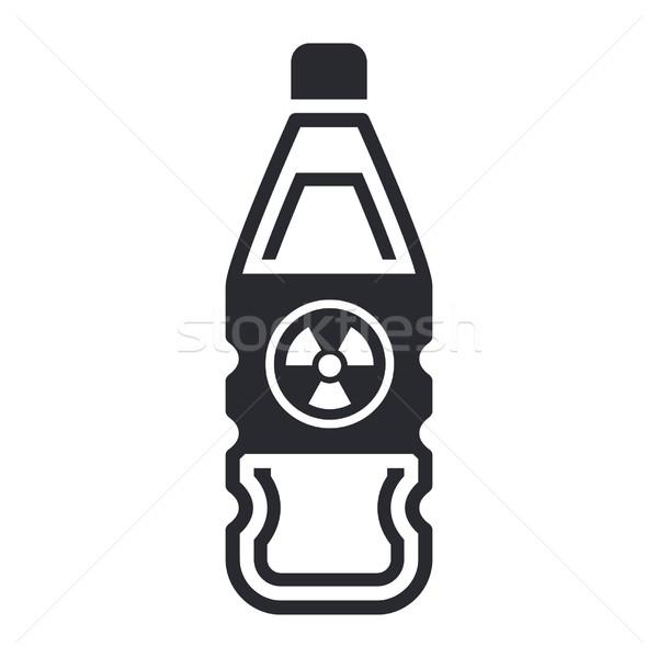 Isolado nuclear desperdiçar garrafa edifício líquido Foto stock © Myvector