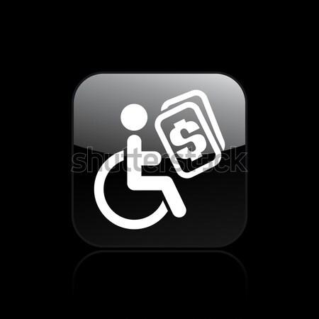 гандикапа икона дома домой инвалидов изолированный Сток-фото © Myvector