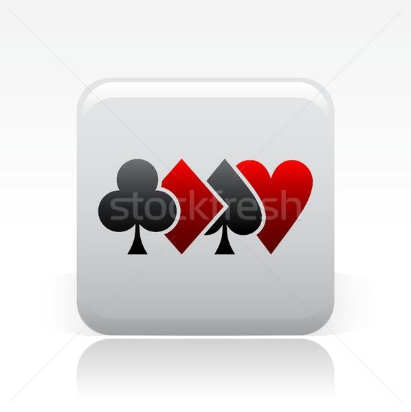 Poker ikon oyun kazanmak perspektif tohumları Stok fotoğraf © Myvector