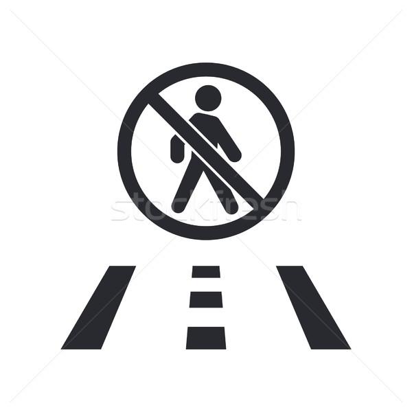 Pedestrian forbidden icon Stock photo © Myvector