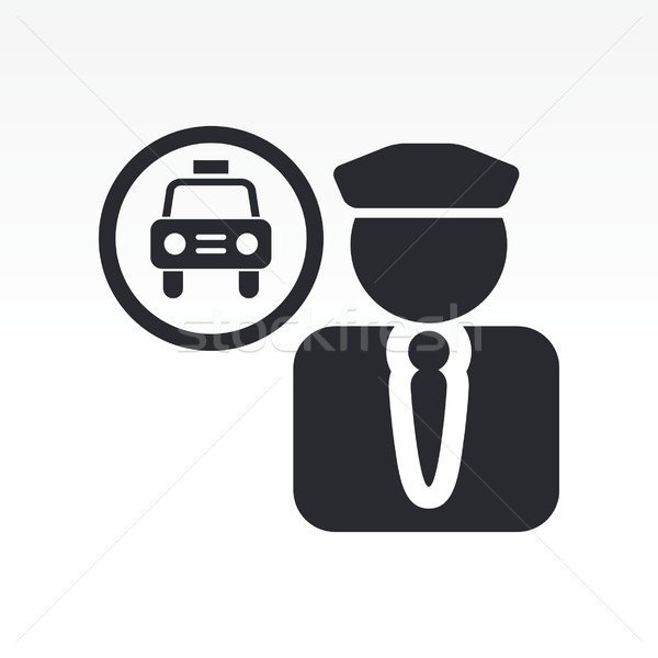 Taxi driver icona Foto d'archivio © Myvector