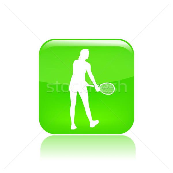 теннис икона спортивных тренировки Сток-фото © Myvector