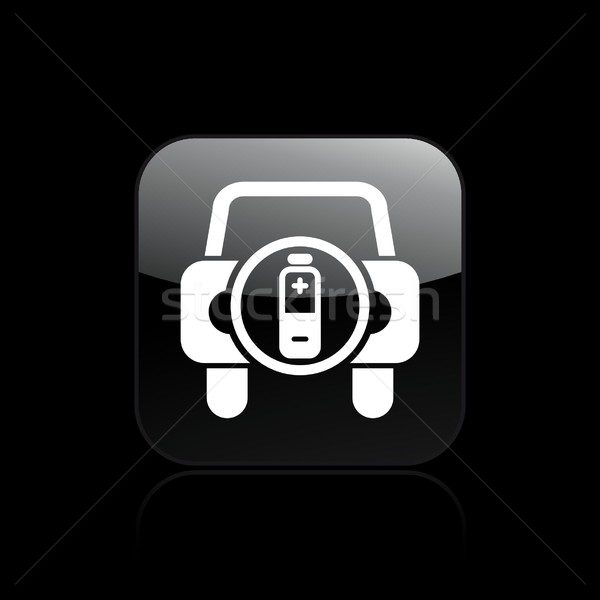 автомобилей батареи икона свет мобильных энергии Сток-фото © Myvector